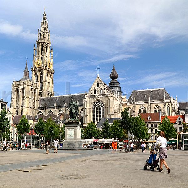 Groenplaats te Antwerpen