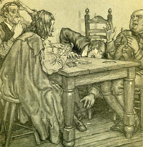 Bokkenpoten onder de tafel